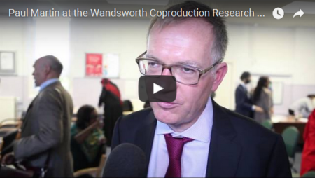 Paul Martin at the Wandsworth Coproduction Research Conference