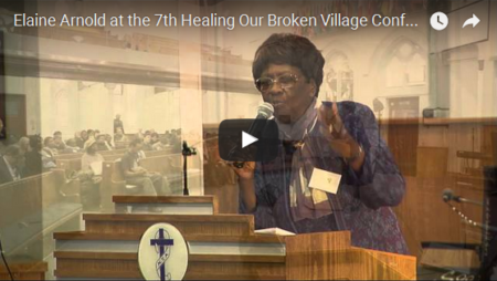 Elaine Arnold at the 7th Healing Our Broken Village Conference