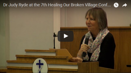 Dr Judy Ryde at the 7th Healing Our Broken Village Conference