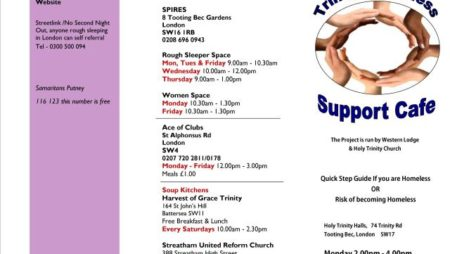 Trinity Homeless Support Cafe plus volunteering opportunity