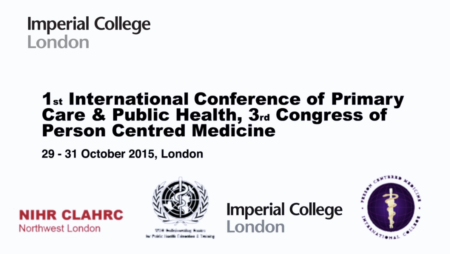1st International conference of Primary Care and Public Health, 3rd Congress of Person Centered Medicine