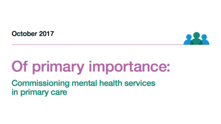 Of primary importance: Commissioning mental health services in primary care