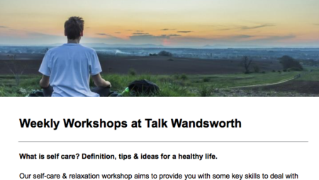 Talk Wandsworth workshops